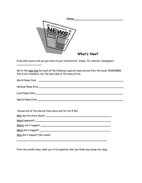 Current Events Worksheets by Current Event Worksheet Lesupercoin Printables Worksheets