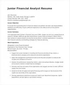 junior financial analyst cover letter financial analyst resume exle financial resume