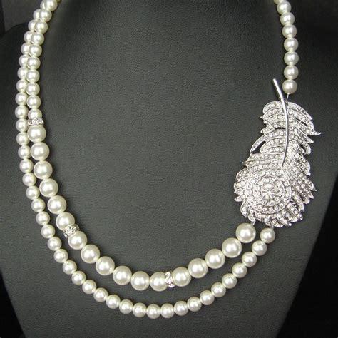 peacock bridal necklace vintage wedding necklace