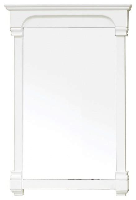 42 inch solid wood frame mirror cream white modern rectangular solid wood cream white frame mirror