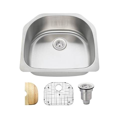 mr direct all in one undermount stainless steel 23 1 2 in
