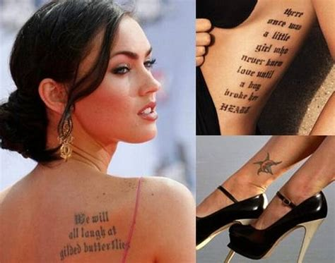 megan fox tattoo removal top 10 most beautiful tattooed