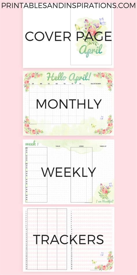 printable bullet journal ideas april bullet journal printables free download