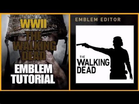 tutorial walking dead call of duty ww2 the walking dead rick silhouette emblem