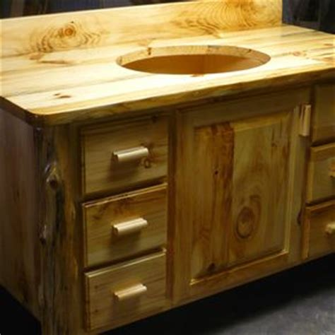 Knotty Pine Vanity Crafted Rustic Pine Vanity By Foxden Decor Custommade