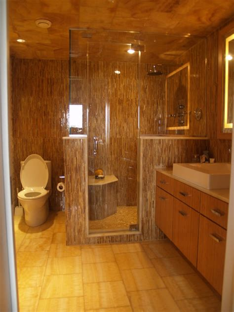 Steam Shower Bathroom Designs Master Bath Steam Shower Contemporary Bathroom New York By Falk Designs Llc