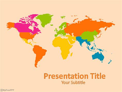 Free Globe Powerpoint Templates Myfreeppt Com World Map Powerpoint Template