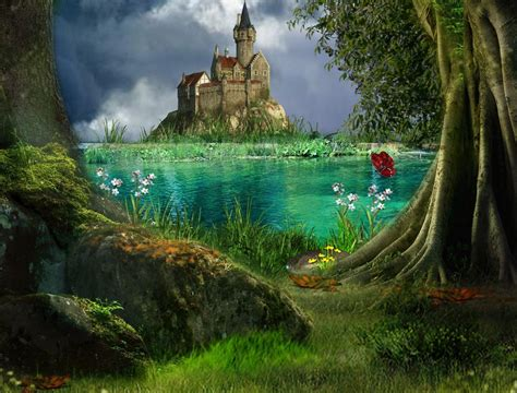 Enchanted Castle enchanted forest backgrounds wallpaper cave