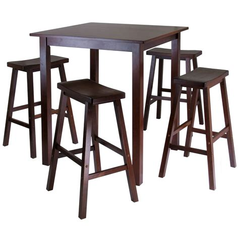 5 Piece Pub Table Dining Set In Bar Table Sets Bar Table Dining