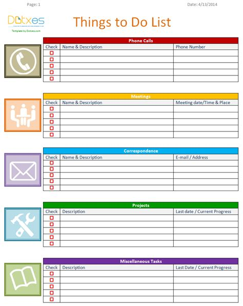 20 printable to do lists and task list templates