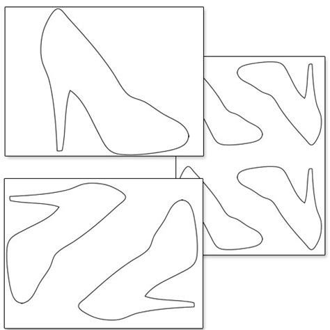 Template For High Heel Shoe printable high heel shoe template printable treats
