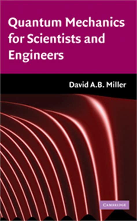 the picture book of quantum mechanics david a b miller quantum mechanics book