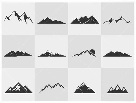 mountain silhouette tattoo 25 best ideas about mountain tattoos on