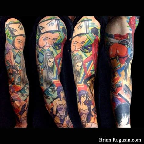 anime sleeve tattoo manga tattoo anime tattoos