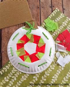 paper plate christmas ornament decoration about family