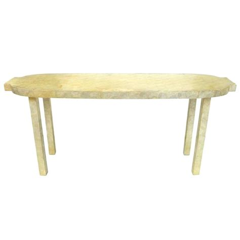 capiz shell table l white capiz shell clad console table for sale at 1stdibs