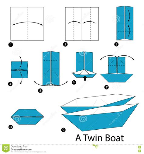 boat cartoon step by step step by step instructions how to make origami a twin boat