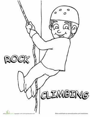 Rock Climbing Coloring Page Education Com Rock Climbing Log Book Template