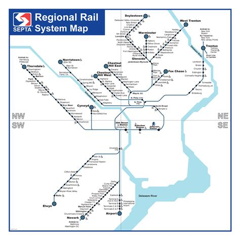 septa regional rail map septa regional rail service improvement program