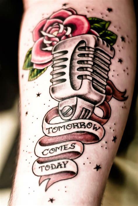 microphone bird tattoo american traditional microphone google search tattoos