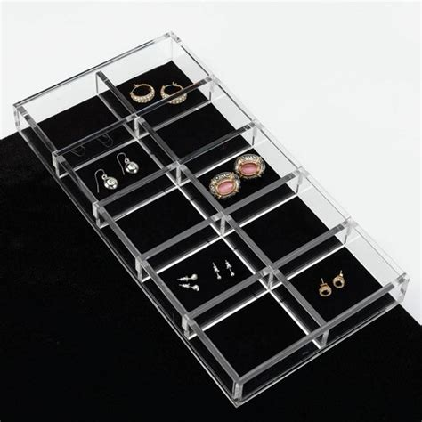 Jewellery Drawer Insert by Jewelry Drawer Insert Earring Organizer 11 5 8 Quot X 4 1 4