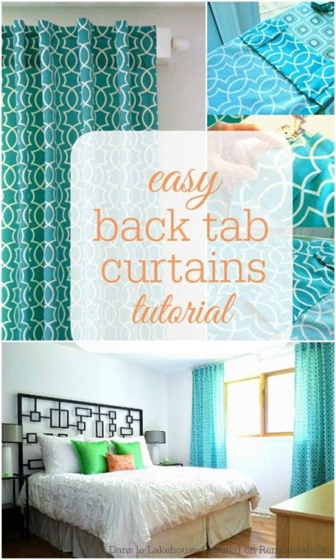 back tab curtains instructions simple sewn back tab curtains sewing diy curtain