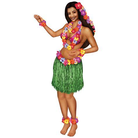 Pool Party Decorations by Hawaiian Luau Beach Hula Huge 1 5 M Jointed Cardboard