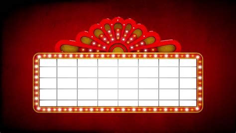 marquee sign marquee lights stock footage