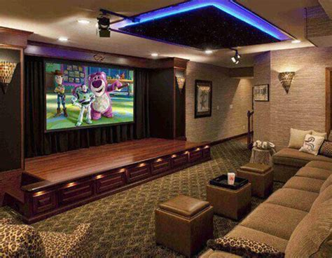 the living room theater modern house