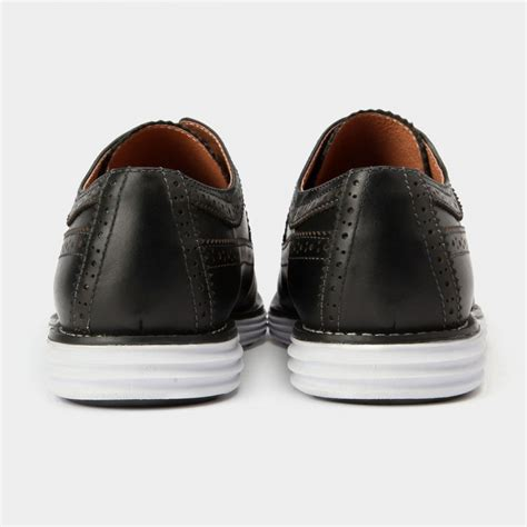 herilios simple chic oxford leather black casual shoes