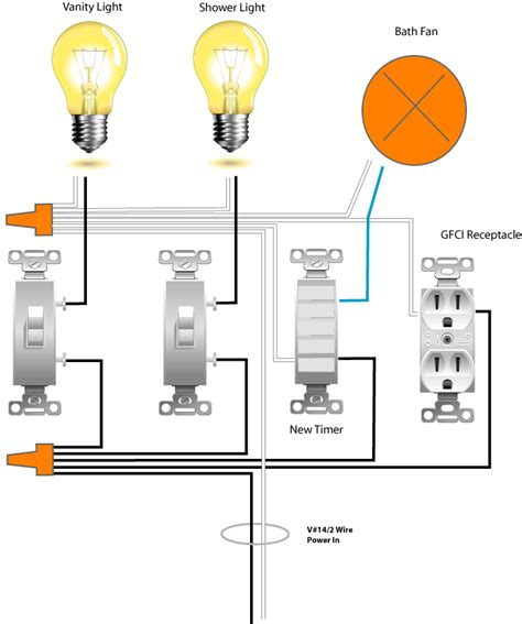 bathroom light fan switch wiring diagram on bathroom