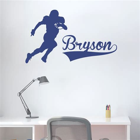 wall stickers football football player and name wall decal