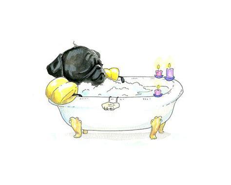 pug spa spa pug pug in a tub customized spa invitation s day card relax