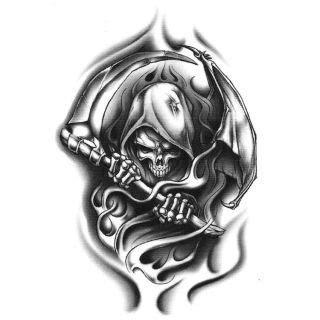 tribal grim reaper tattoos the world s catalog of ideas