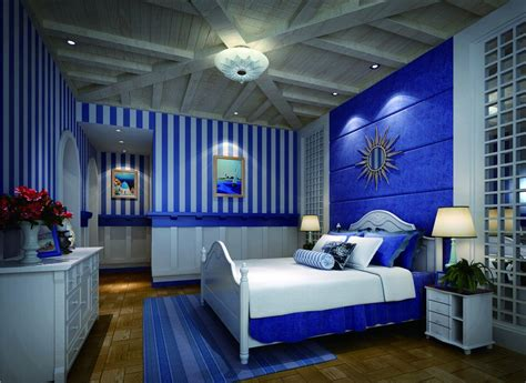 Bedroom Design Blue Blue Bedroom Interior Design Neoclassical 3d House