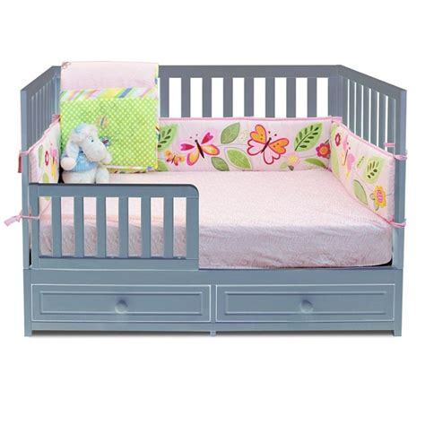 Convertible Crib With Drawer Mozart 3 In 1 Convertible Grey Crib With Drawer