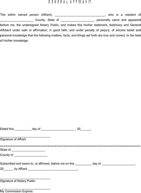 general affidavit 442 best images about templates forms on