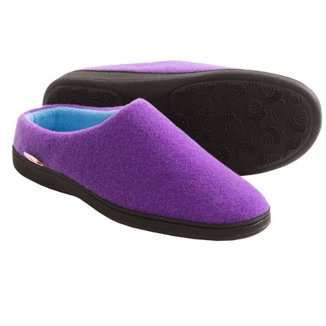 acorn s slippers acorn plush mule slippers for in purple