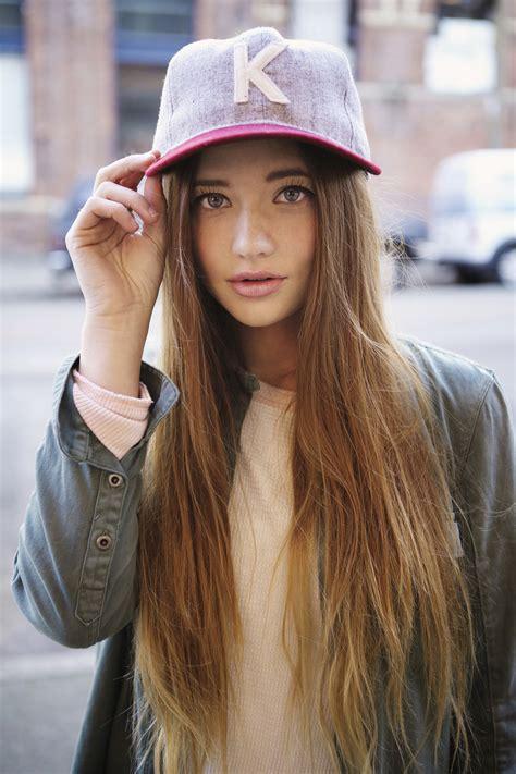 10 ways to wear hats straight hair version youtube how to wear baseball hats for women wardrobelooks com