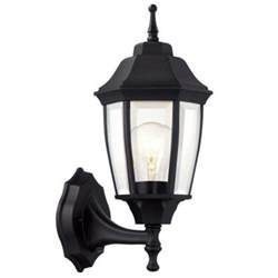 outdoor dusk to light hton bay 1 light black dusk to outdoor wall