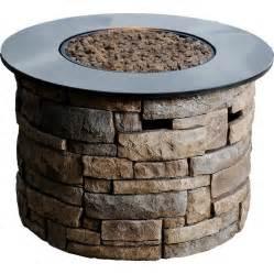 Buy Propane Fire Pit Shop Bond Canyon Ridge 50 000 Btu Liquid Propane Fire Pit