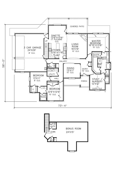 perry home plans floor plan 7691