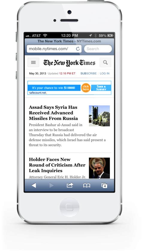 nytimes mobile the new york times updates its mobile website for