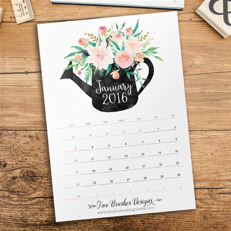 calendar design ideas 2015 50 absolutely beautiful 2016 calendar designs hongkiat