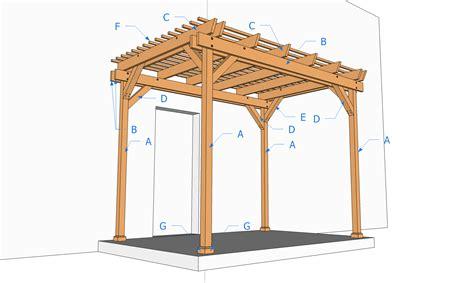 gazebo pergola 3x3 carport bois 3x3