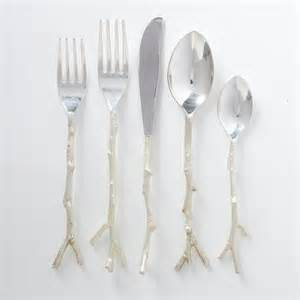 Set silver eclectic flatware and silverware sets by west elm