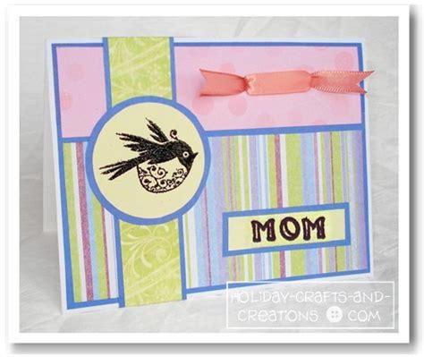 homemade mothers day card homemade mothers day cards bird st card