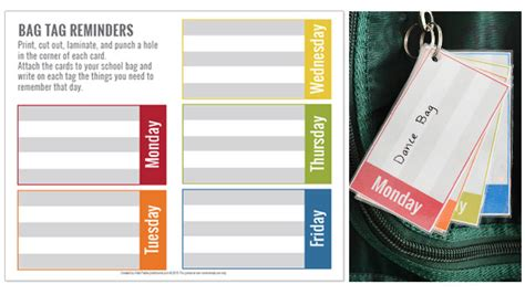 simple printable luggage tags simple tips for organising kids and all their stuff