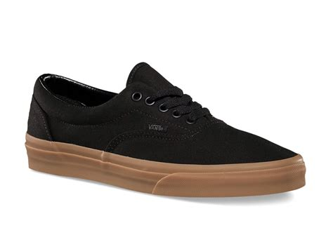vans era gum vans era canvas black gum sole collector