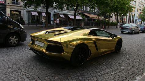 gold convertible lamborghini gold saudi lamborghini aventador roadster in